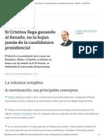 Si Cristina Llega Ganando Al Senado, No La Bajan Jamás de La Candidatura Presidencial - 13.09