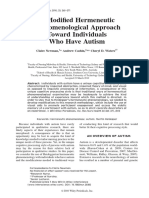 Hermeneutic Phenomenological Approach Towards People With Autism