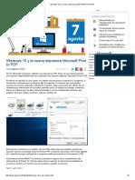 Windows 10 y La Nueva Impresora Microsoft Print to PDF