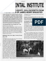 The Oriental Institute Expidition to Egypt 1919