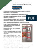 Silicona Para Juntas de Cárter Chevrolet Spark y Daewoo Matiz