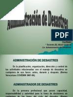 La Administración de Desastres