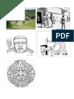 Dibujo de Culturas Prehispánicas