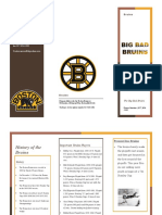 the bruins brochure