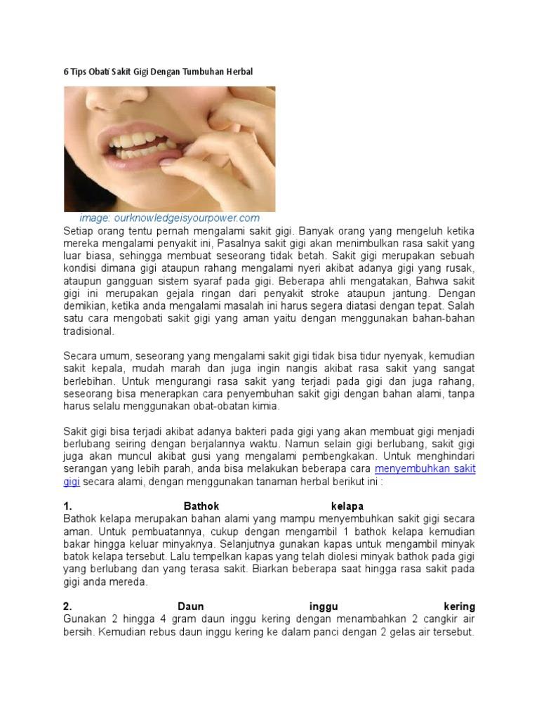 6 Tips Obati Sakit Gigi Dengan Tumbuhan Herbal