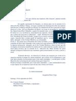 Carta Corrergida I