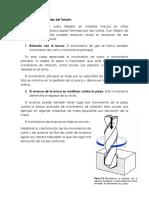 Movimientos Principales Del Taladro