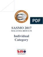Sasmo 2017 Malaysia Results Individual Category v4
