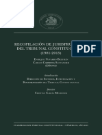 Analisis jurisprudencial del tribunal constitucional chileno.