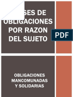 Clases de Obligaciones Por Razon Del Sujeto