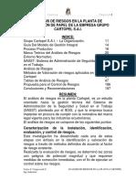 Análisis de Riesgos en La Planta De