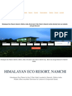 Himalayan Eco Resort, Namchi, Sikkim, India, Book best 3 Star Hotel in Namchi online directly from our website and get discount