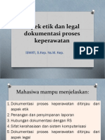 Aspek Etik Dan Legal Dokumentasi Proses Keperawatan