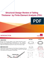 Structural Design Review of Tailing Thickener by Finite Element Analysis (FEA)- Summary Presentation