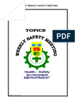 Kumpulan Topik Weekly Safety Talk