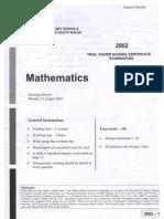 2002 Maths CSSA Trial
