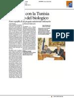 Un ponte con la Tunisia nel segno del biologico - Il Resto del Carlino del 21 ottobre 2017
