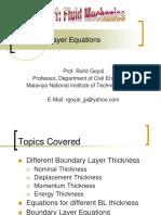 Boundary Layer Equation