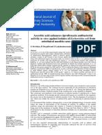 Ascorbic acid enhances ciprofloxacin antibacterial activity in vitro against isolates of Escherichia coli from subclinical mastitis cases of buffaloes