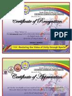 Certificate Intrams Winners - Short