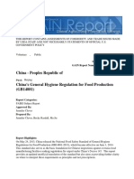 China's General Hygiene Regulation for Food Production (GB14881)_Beijing_China - Peoples Republic Of_2!24!2015