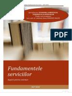 Seminar Fundamentele Serviciilor 2017-2018 ECTS