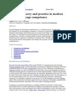 Vandergrift- Listening, Modern Theory & Practice