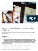 It's Time for Universities to Put Student Mental Health Support First _ Jon Wakeford _ Higher Education Network _ the Guardian