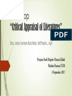 Workshop Critical Appraisal of Literatures_bu Leiza