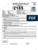 Anuj Admit Card