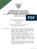 UU Nomor 38 Tahun 2014 by Sudung Sinambela