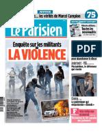"""Le Parisien - le retour du """"retour de l'ultragauche"""""""