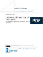 LAW OF CONTRACT IN TANZANIA (Part 2) By MWAKISIKI MWAKISIKI EDWARDS