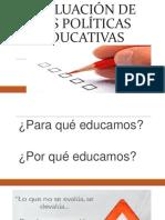 evaluacion de politicas educativas