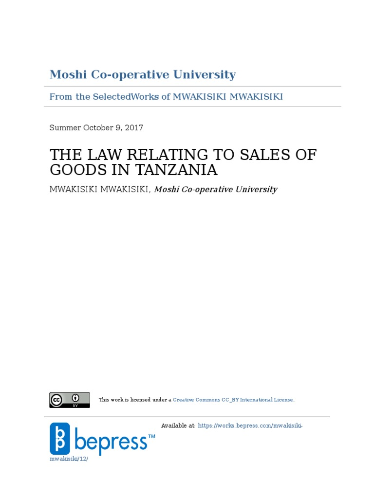 the law relating to sales of goods implied warranty sales