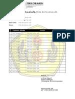 Formulir Praktika Acara 2016