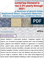 Global Countertop Demand is forecast to rise 2.3% yearly through 2021