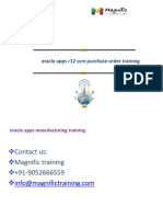 Oracle Apps r12 Scm Purchase Order Training
