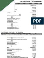 Fiat Palio Fire 1,3 - 16 Valvulas