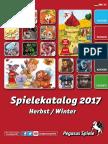 Pegasus Verlagskatalog Herbst /Winter 2017