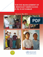 Guidelines for the Management of Multidrug-Resistant Tuberculosis in Myanmar