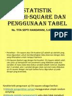 Statistik Chi Square