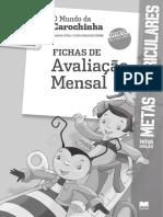 Fichas de Avaliação Mensal- Mundo Da Carochinha