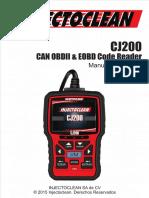 Manual Del escaner para autos Usuario Español cj 200