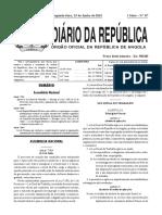 Diário Da República de Angola