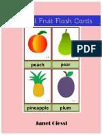 Colorful Fruit Flashcards Free