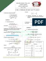 Primer Parcial G-E Mat-101 Solucionario