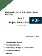 ENG 04464 - Aula 3 - Projeto Eletrico Basico I