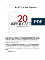 20 Useful CSS Tips for Beginners
