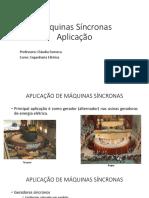 Máquinas_sincronas__Aplicação
